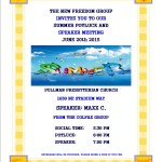 New Freedom June Potluck Flyer