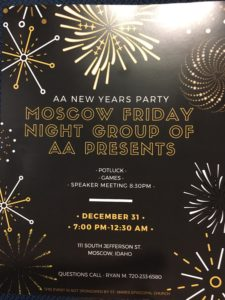 AA New Years Eve Party @ Saint Marks Episcopal Church